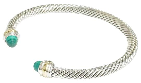 Preload https://img-static.tradesy.com/item/23101809/david-yurman-never-worn-14k-and-sterling-silver-malachite-cable-bangle-bracelet-0-1-540-540.jpg