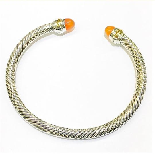 David Yurman David Yurman Never Worn 14k and Sterling Silver Carnelian Cable Bangle