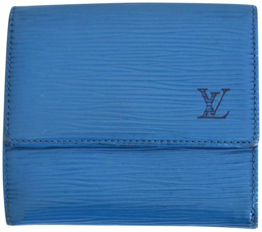 Preload https://item1.tradesy.com/images/louis-vuitton-toledo-blue-lv-logo-red-epi-leather-tri-fold-wallet-23101865-0-1.jpg?width=440&height=440