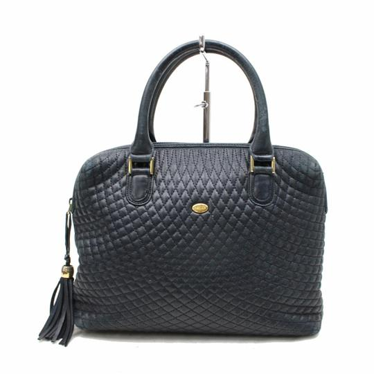 Preload https://img-static.tradesy.com/item/23101893/bally-pursesdesigner-purses-navy-blue-quilted-leather-with-gold-accents-satchel-0-0-540-540.jpg