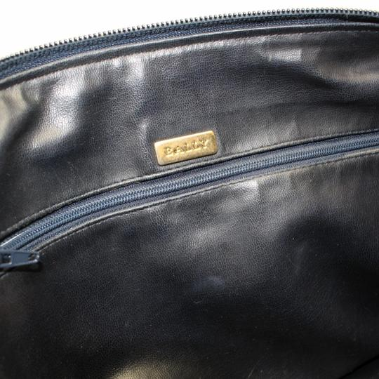 Bally Perfect For Everyday Rare Style Mint Condition Body Large Tassel Satchel in navy blue quilted leather with gold accents
