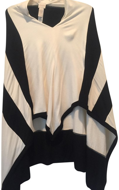 Preload https://item2.tradesy.com/images/ecru-and-black-ponchocape-size-os-one-size-23101981-0-1.jpg?width=400&height=650