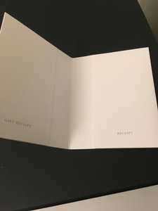 Tiffany & Co. White Envelope