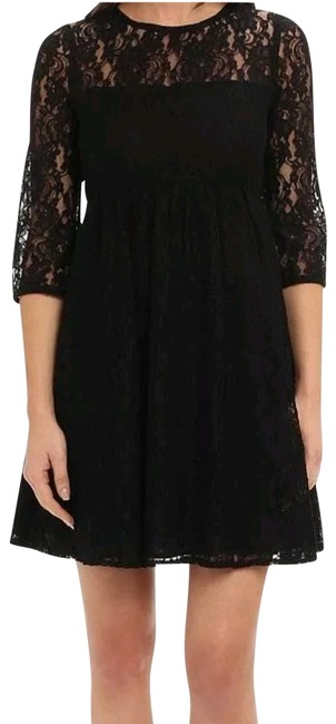 Item - Black New Abs Illusion Lace Night Out Short Cocktail Dress Size 8 (M)