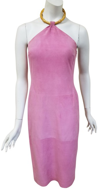 Preload https://item5.tradesy.com/images/ralph-lauren-black-label-pink-suede-halter-bamboo-necklace-short-night-out-dress-size-6-s-23102024-0-2.jpg?width=400&height=650
