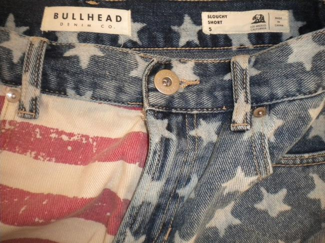 Bullhead Denim Co. Stars/Stripes Slouchy Cut Off Shorts Multi-Color
