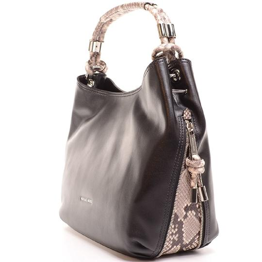 a0b4088096a6 MICHAEL Michael Kors Mk Isabel Large Convertible In Black Leather Shoulder  Bag - Tradesy