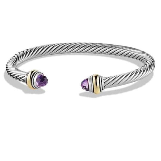 Preload https://item5.tradesy.com/images/david-yurman-never-worn-amethyst-14k-and-sterling-silver-cable-bangle-bracelet-23102234-0-0.jpg?width=440&height=440