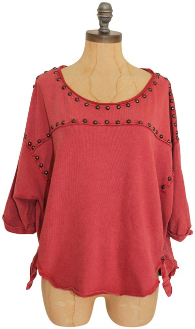 Preload https://item2.tradesy.com/images/free-people-red-dillon-studded-jersey-tee-shirt-size-6-s-23102246-0-1.jpg?width=400&height=650
