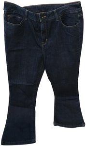 L L Bean Boot Cut Jeans-Dark Rinse