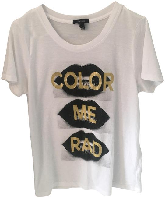 Preload https://item1.tradesy.com/images/forever-21-white-none-tee-shirt-size-12-l-23102275-0-1.jpg?width=400&height=650