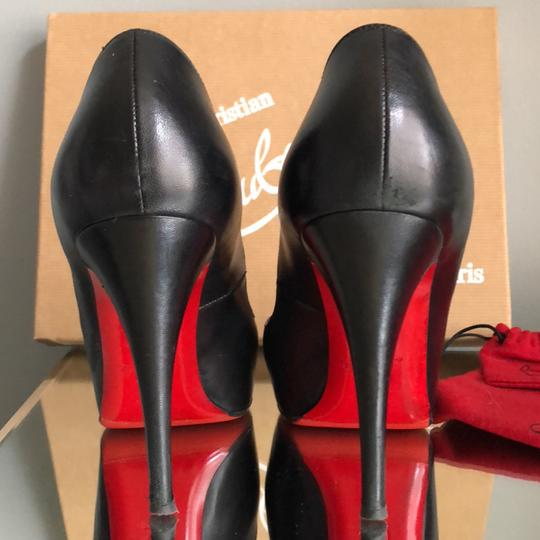 Christian Louboutin black w/ exposed red platform peeptoe Pumps