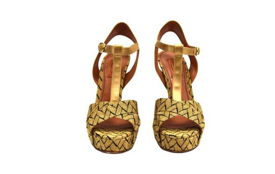 Missoni Gold/black Sandals