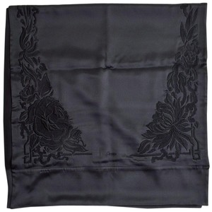 Cartier Cartier Black Embroidered & Beaded Floral Silk Shawl