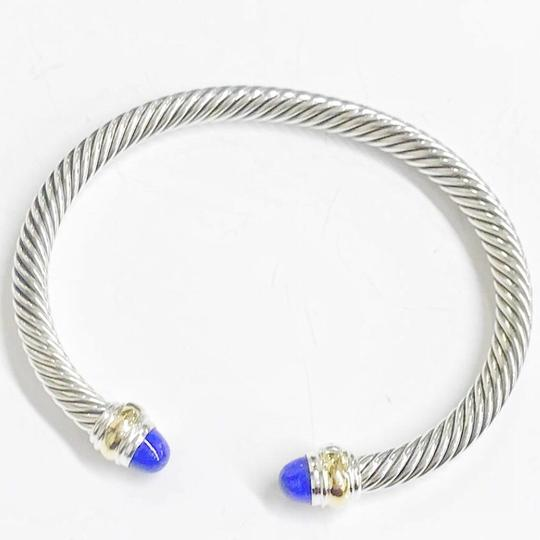 David Yurman David Yurman Never Worn Lapis Lazuli 14k and Sterling Silver Cable Bangle