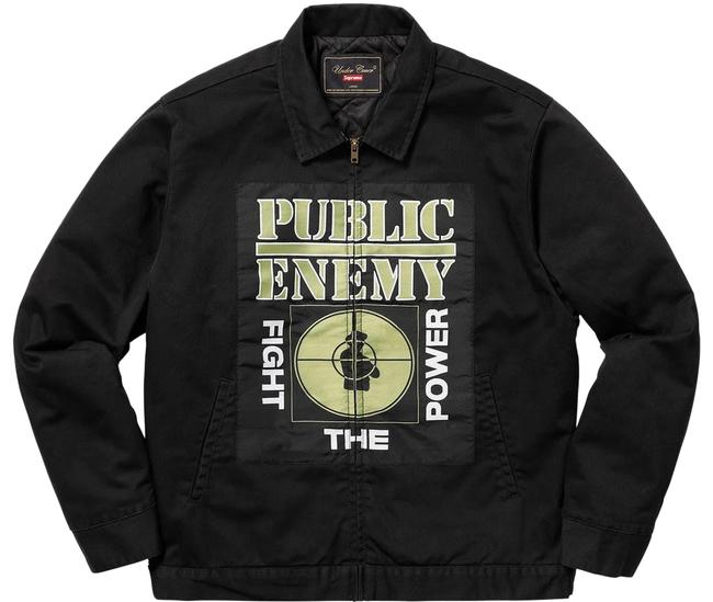 Preload https://img-static.tradesy.com/item/23102449/supreme-black-new-men-s-public-enemy-undercover-work-large-ss18-miltary-jacket-size-14-l-0-1-650-650.jpg