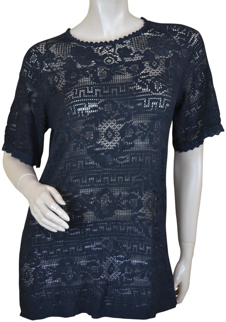 Preload https://item4.tradesy.com/images/isabel-marant-black-lace-tunic-blouse-size-8-m-23102483-0-1.jpg?width=400&height=650