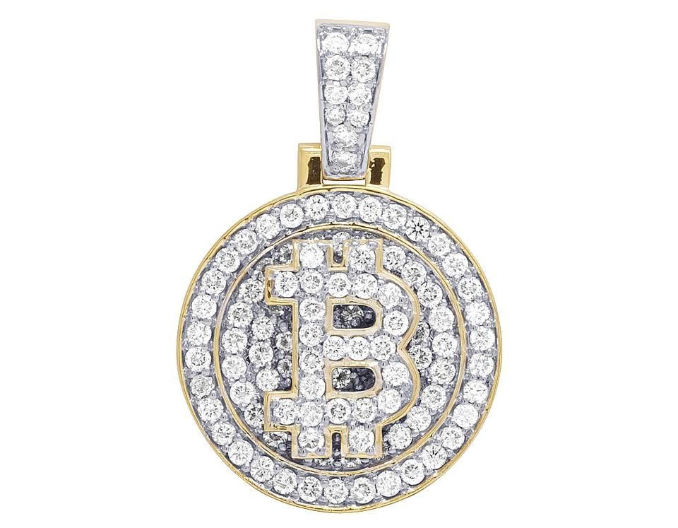 mens charm image pendant bentley gold yellow diamond b symbol flying