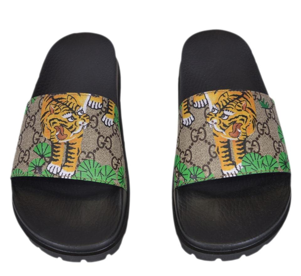 2d3b7f0d4 Gucci Multicolor New Men's 450895 Gg Supreme Canvas Bengal Tiger Slides 5g  Sandals Size US 6 Regular (M, B) - Tradesy