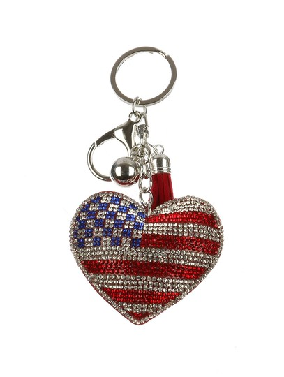 Other NEW RHINESTONE CRYSTAL HEART ACCESSORY KEY CHAIN KEYCHAIN