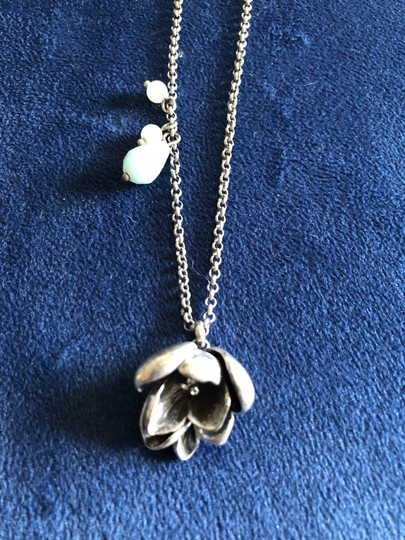 Fossil Fossil Necklace, Flower Pendant