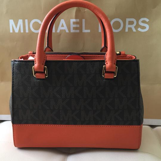 MICHAEL Michael Kors Satchel in TANGERINE / BROWN