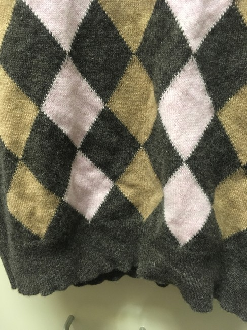 Neiman Marcus Preppy Formal Workplace Argyle Golf Sweater