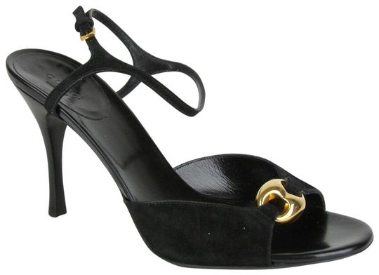 Preload https://item2.tradesy.com/images/gucci-black-women-s-suede-heel-with-gold-detail-160046-sandals-size-eu-395-approx-us-95-regular-m-b-23102711-0-1.jpg?width=440&height=440