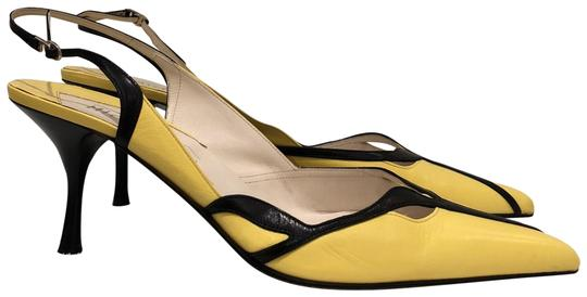 Preload https://item3.tradesy.com/images/michel-perry-yelow-and-black-leather-pumps-size-eu-40-approx-us-10-regular-m-b-23102712-0-3.jpg?width=440&height=440