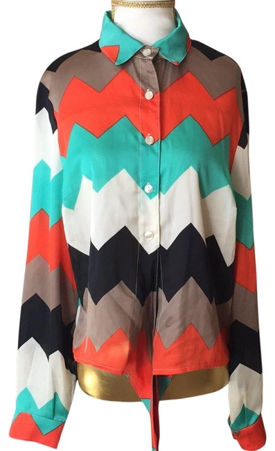 Preload https://item4.tradesy.com/images/casting-multi-color-blouse-size-8-m-23102748-0-2.jpg?width=400&height=650