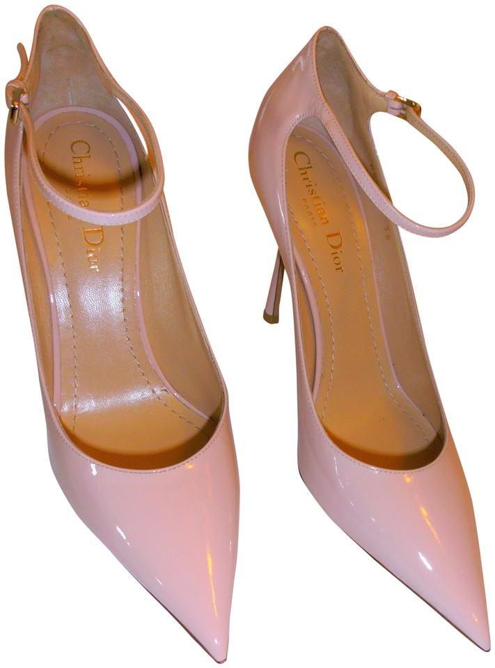 69db9d7a84 Dior Christian Stiletto Heel Buckle Across Top New Without Box lt. pink/nude  Pumps ...