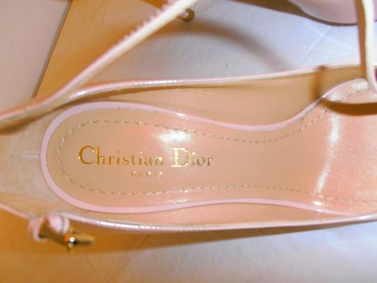 Dior Christian Stiletto Heel Buckle Across Top New Without Box lt. pink/nude Pumps