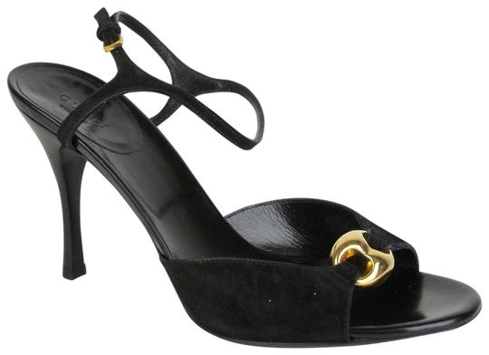 Preload https://item1.tradesy.com/images/gucci-black-women-s-suede-heel-with-gold-detail-160046-sandals-size-eu-385-approx-us-85-regular-m-b-23102770-0-1.jpg?width=440&height=440
