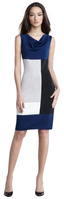 Preload https://item1.tradesy.com/images/st-john-multicolor-knit-medium-colorblock-milano-neck-blue-white-short-workoffice-dress-size-8-m-23102790-0-1.jpg?width=400&height=650
