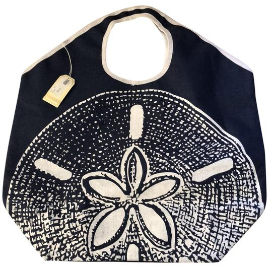 Preload https://item3.tradesy.com/images/mudpie-aruba-shell-navy-blue-and-white-cottoncanvas-beach-bag-23102802-0-1.jpg?width=440&height=440