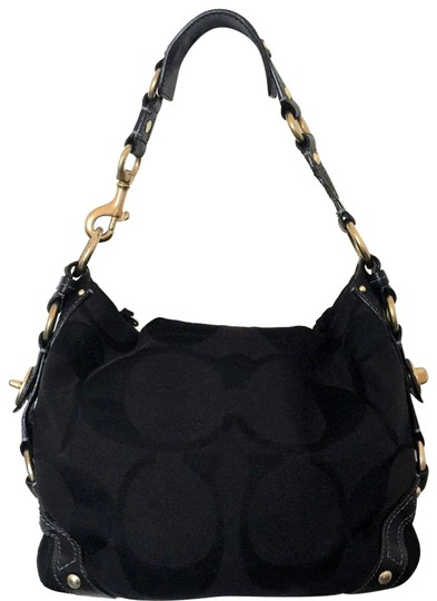 Preload https://img-static.tradesy.com/item/23102838/coach-carly-signature-logo-boutique-black-jacquard-with-leather-trim-hobo-bag-0-1-540-540.jpg