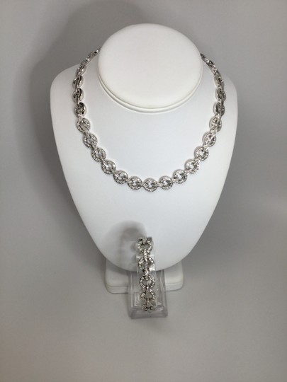 Preload https://item5.tradesy.com/images/white-gold-diamond-cocktail-party-set-bracelet-necklace-23102859-0-0.jpg?width=440&height=440