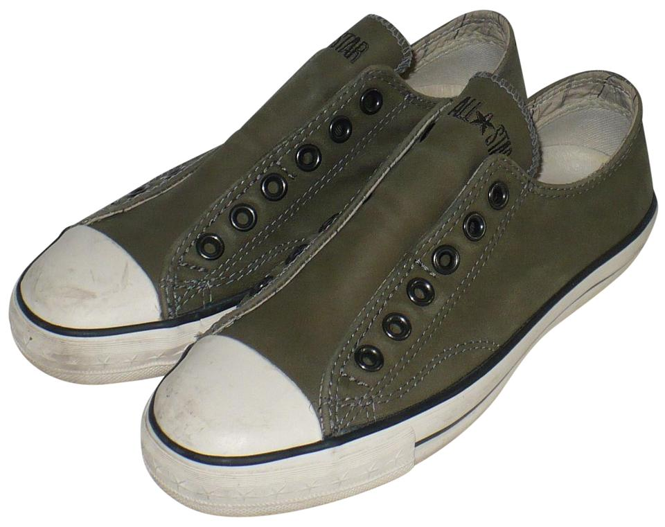 21cc8ff7fce3d3 Converse By John Varvatos Vintage Olive Geen Leather Chuck Taylor Slip-on  Sneakers