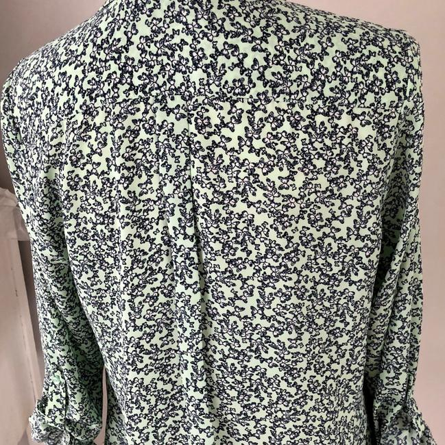 The Limited Button Down Shirt Mint / Navy flower print