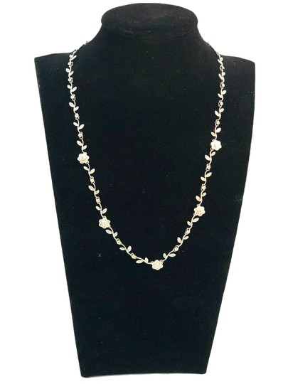 Preload https://item4.tradesy.com/images/diamond-14k-white-gold-floral-for-ladies-necklace-23102993-0-2.jpg?width=440&height=440