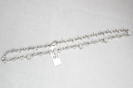 Other 14K White Gold Diamond Floral Necklace for ladies