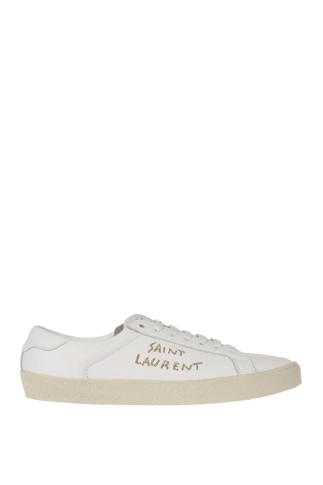 9381618b8ca Saint Laurent White Court Classic Sl/06 Sneaker with Gold Embroidery  Sneakers. Size: EU ...