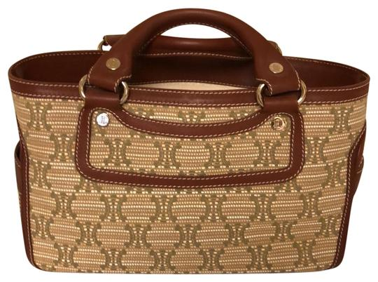 Preload https://item5.tradesy.com/images/celine-boogie-monogrammed-light-brown-leather-and-canvas-satchel-23103084-0-1.jpg?width=440&height=440
