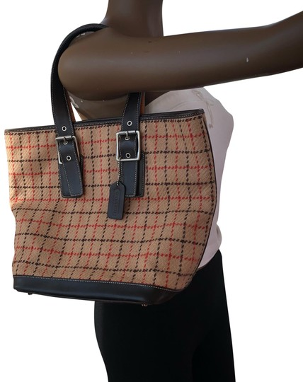 Preload https://item1.tradesy.com/images/coach-o-brown-wool-tote-23103085-0-1.jpg?width=440&height=440