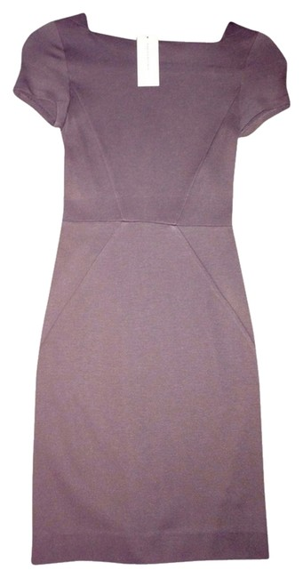 Item - Brown Cap Sleeve Fitted Above Knee Sheath Short Work/Office Dress Size Petite 0 (XXS)