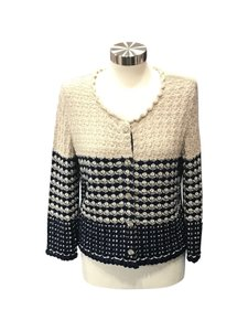 Chanel Knit Button Front Size 10 Cardigan