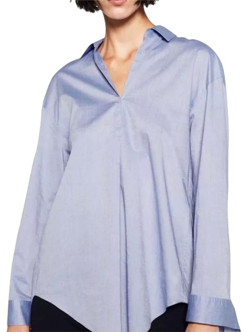 Preload https://img-static.tradesy.com/item/23103302/zara-blue-cotton-blouse-size-12-l-0-1-650-650.jpg