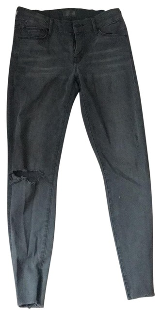 Item - Grey Distressed Looker Ankle Fray Skinny Jeans Size 2 (XS, 26)