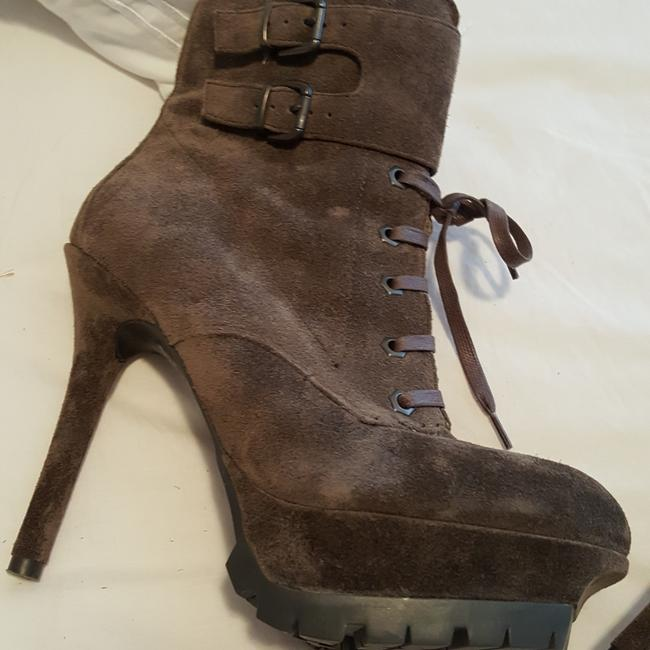 """Sam Edelman Dark Gray Suede with Good Traction Soles. """"Jenny From The Block"""" Look. Boots/Booties Size US 7 Regular (M, B) Sam Edelman Dark Gray Suede with Good Traction Soles. """"Jenny From The Block"""" Look. Boots/Booties Size US 7 Regular (M, B) Image 1"""
