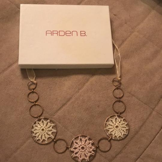 Arden B. crochet with metal necklace